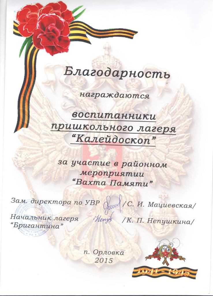 2015 Вахта памяти